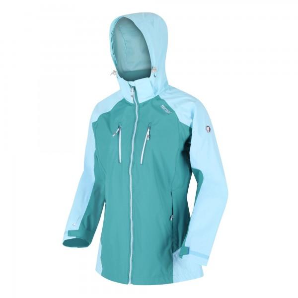 Regatta Calderdale IV Waterproof Hooded Walking Jacket Turquoise Cool Aqua