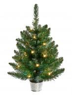 Pre Lit Iridescent Christmas Tree - 60cm