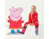 Regatta Peppa Pig Charco Breathable Waterproof Puddle Suit Jelly Bean Pink Mist