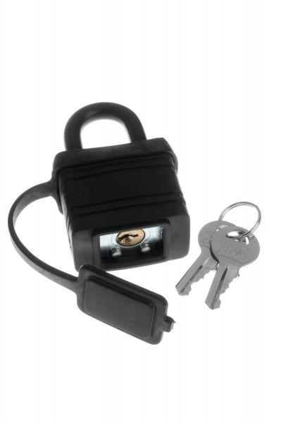 45mm Black Plastic Covered Padlock