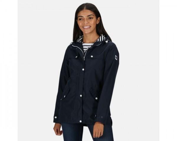 Bertille Lightweight Hooded Waterproof Jacket Navy