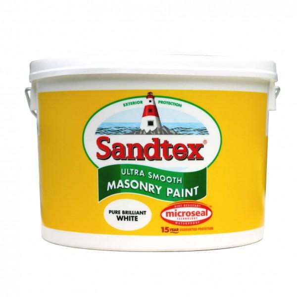 Sandtex Masonry Paint Brilliant White 10L