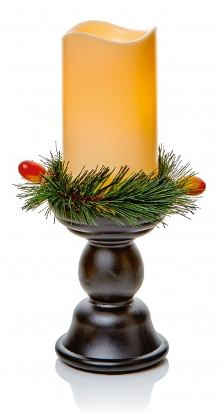 Decorated Candlebra with Flicker Flame