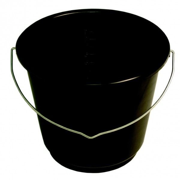 2 ½ Gallon Black Bucket