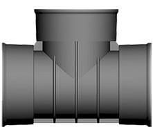 225mm Twinwall 90 Deg Bend