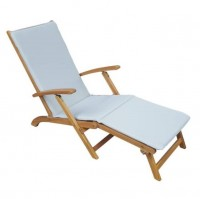 Henley Lounger with Grey Cushion