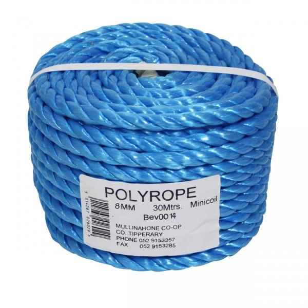 Polyrope Mini Coil Blue 30M X 8MM