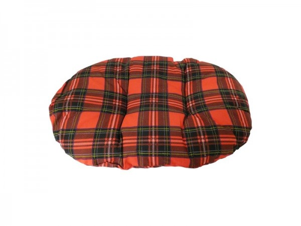 Classic Red Tartan Fibre Cushion