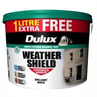 11L Dulux Weathershield White/Magnolia