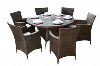 Cannes Mocha 6 Seater Set