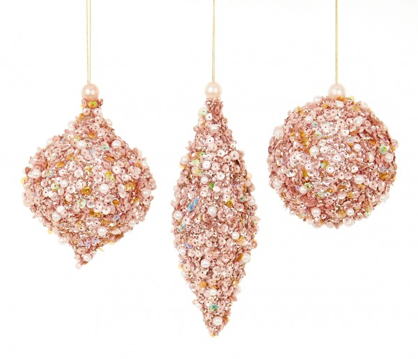 Glitter Pearl Sequin Baubles