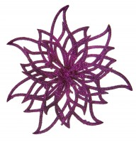 Purple Glitter Cut Out