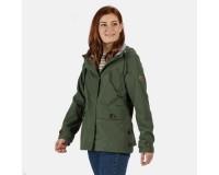 Regatta Ninette Lightweight Hooded Waterproof Jacket Thyme Leaf