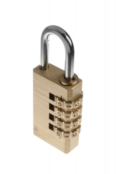 Tessi Brass Side Combination Padlock, 40mm