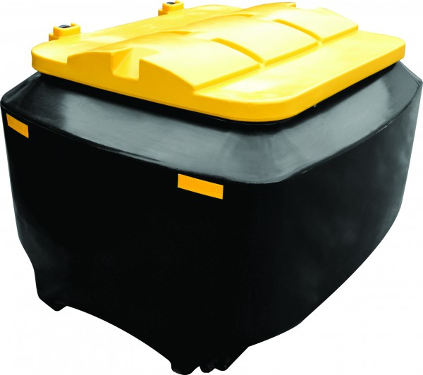 1 Cubic Meter Meal Bin (black Body & Yellow Lid)
