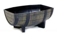 Medium Oak Barrel Trough Planter