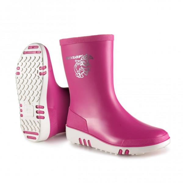 Dunlop Kids Mini Wellie Pink/White