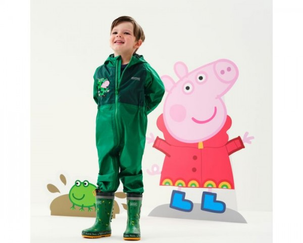 Regatta Peppa Pig Charco Breathable Waterproof Puddle Suit Jelly Bean Dinosaur