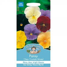 Pansy Clear Crystals Mixed