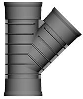 150mm Twinwall 45 Deg Bend