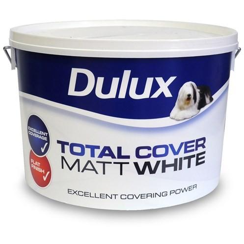 Dulux Total Cover White Paint 10L