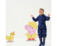 Peppa Pig Pobble Printed Waterproof Puddle Suit - New Royal