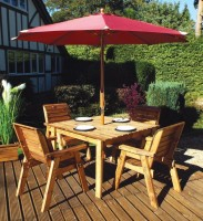 Four Seater Square Table Set