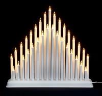 33 Light Candle Bridge Tower - White