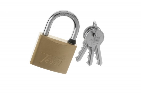 Tessi Solid Brass Padlock Ka, 40mm