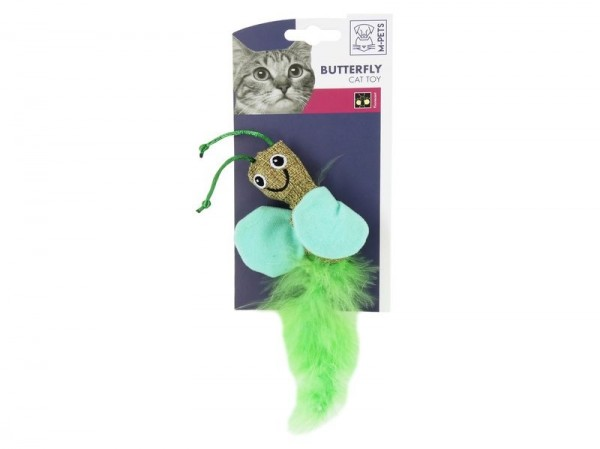 Butterfly Canvas Feather Cat Toy