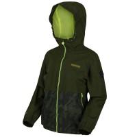 Regatta Kids Haskel W/Proof Shell Jacket Race Green / Camo Print