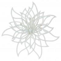 White Glitter Cut Out