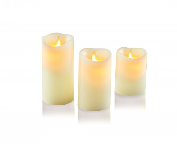 Set of 3 Dancing Flame Candles with Timer