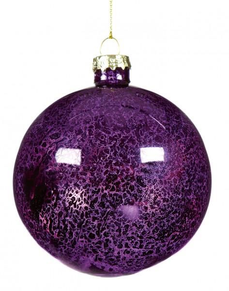 Antique Purple Glass Bauble - Single