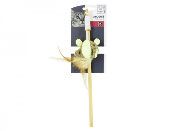 Mouse Cat Wand Canvas Cat toy
