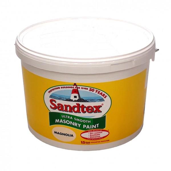 Sandtex Masonry Paint Magnolia 10L