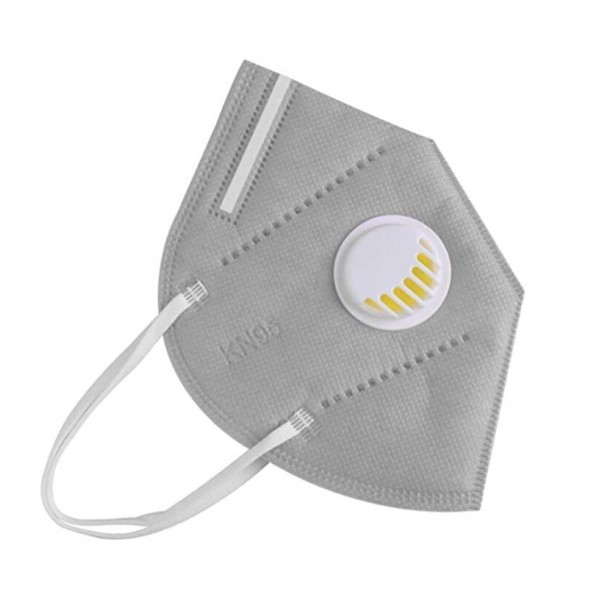 Valved KN95 Face Mask with Earloop - Grey