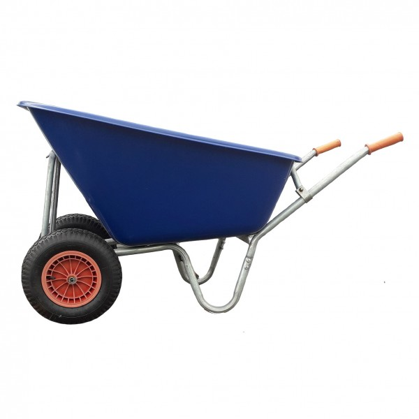 200L Twin Wheel Heavy Duty Wheelbarrow
