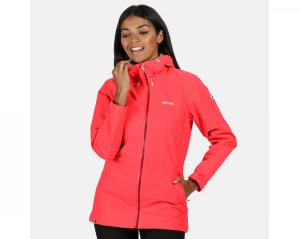 Regatta Hamara III Lightweight Waterproof Hooded Walking Jacket - Neon Pink