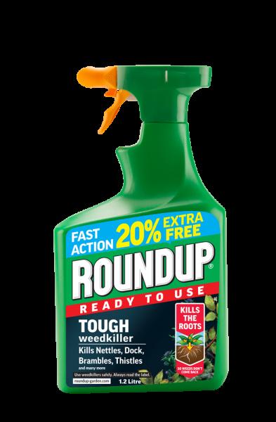 Round Up Xl Tough + Deep Root Weedkiller RTU 1L