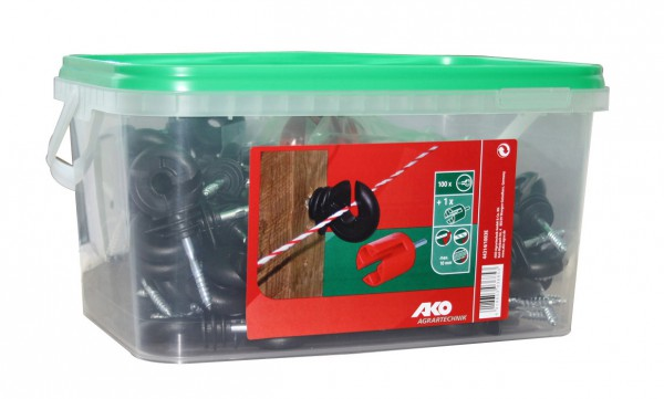 Screw Type Insulators- Bucket of 100+15 Free