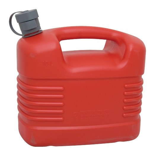 10l Plastic Petrol Can Inc. Nozzle