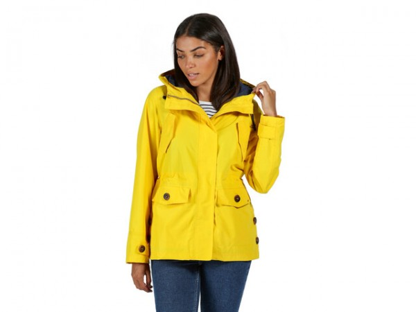 Regatta Ninette Lightweight Hooded Waterproof Jacket Yellow Sulphur