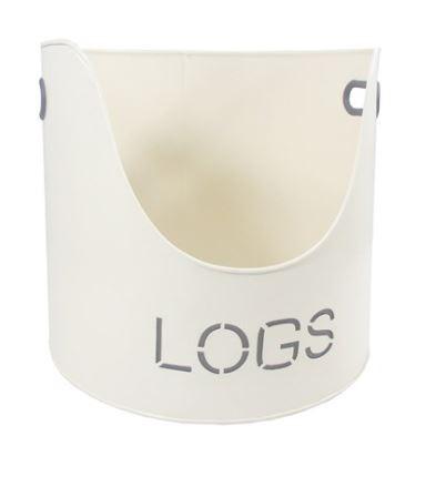 Cream Log Bucket