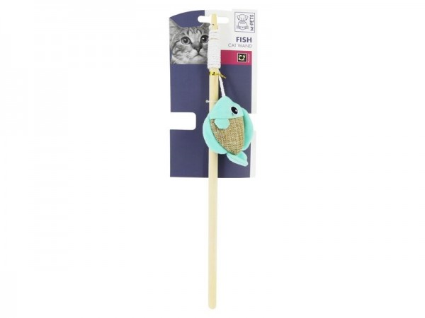 Fish Cat Wand Canvas Cat Toy