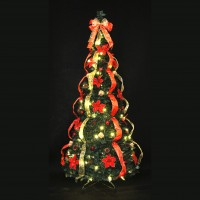 Pre-Lit & Decorated Pop Up Christmas Tree 150w/LEDS