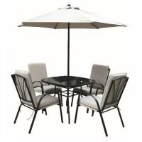 Amalfi Ivory 4 Seater Padded Dining Set