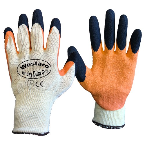 Bricky Grip Gloves Orange/Black