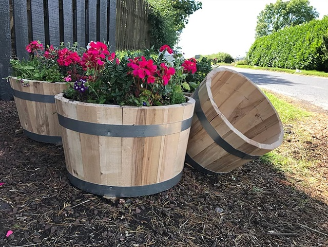 April-whiskey-barrell-garden