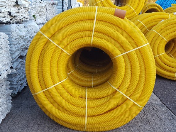 "100m Roll 80mm (3"") Land Drainage Pipe"